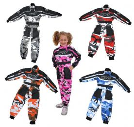Wulfsport Kids Camo Karting Suits